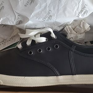 Lacoste mens sneakers new/box  black/white size 12